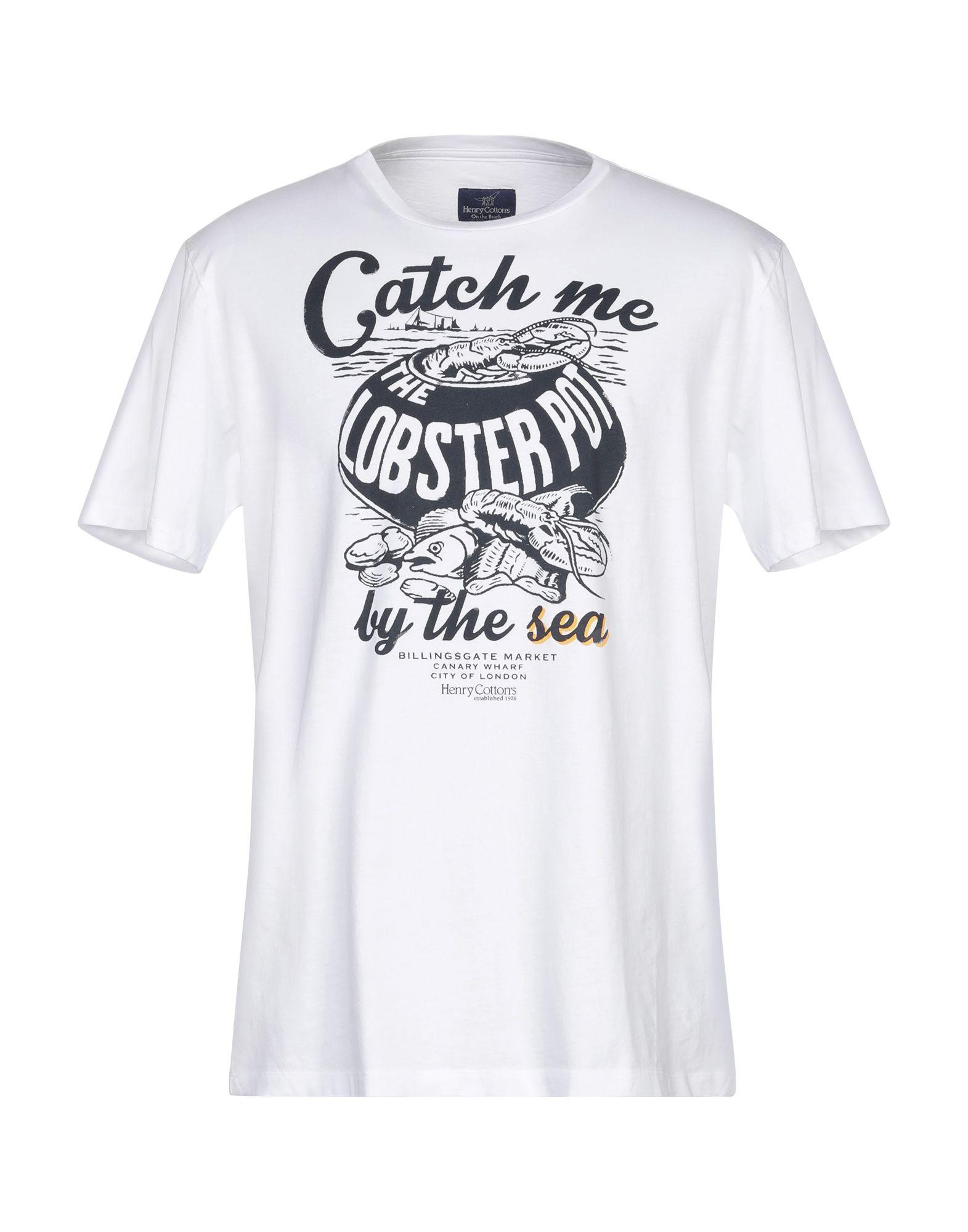 《送料無料》HENRY COTTON'S メンズ T シャツ ホワイト XL コットン 100%