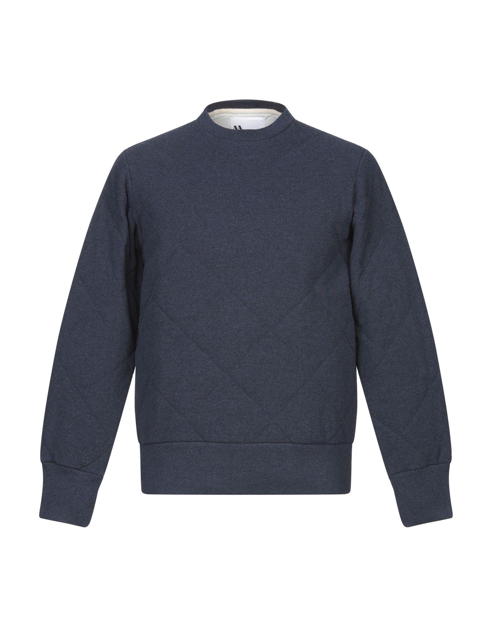 《期間限定セール開催中!》DOPPIAA メンズ スウェットシャツ ダークブルー S コットン 100%