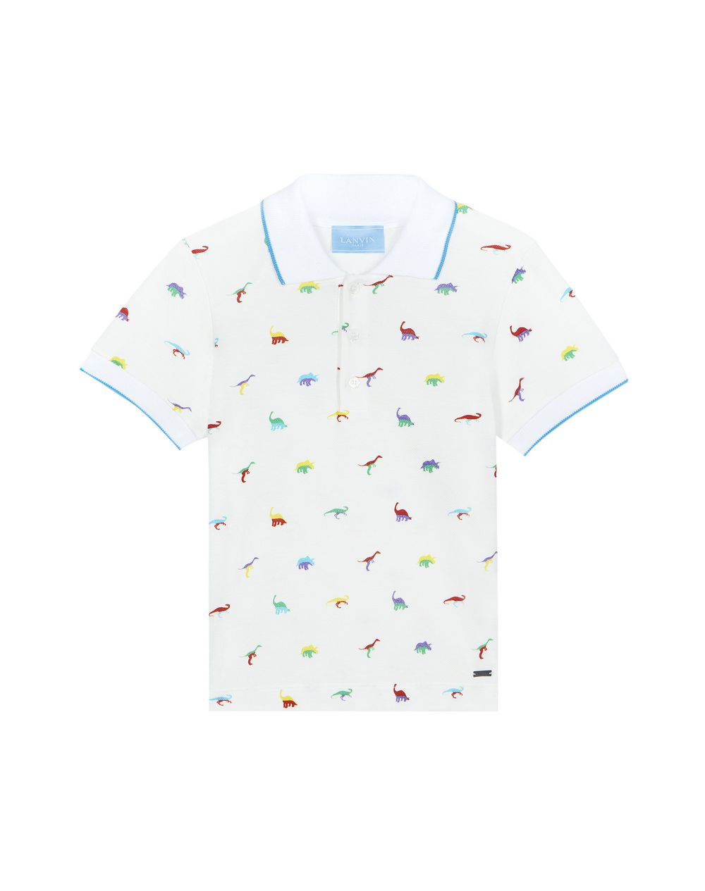 EMBROIDERED WHITE POLO - Lanvin