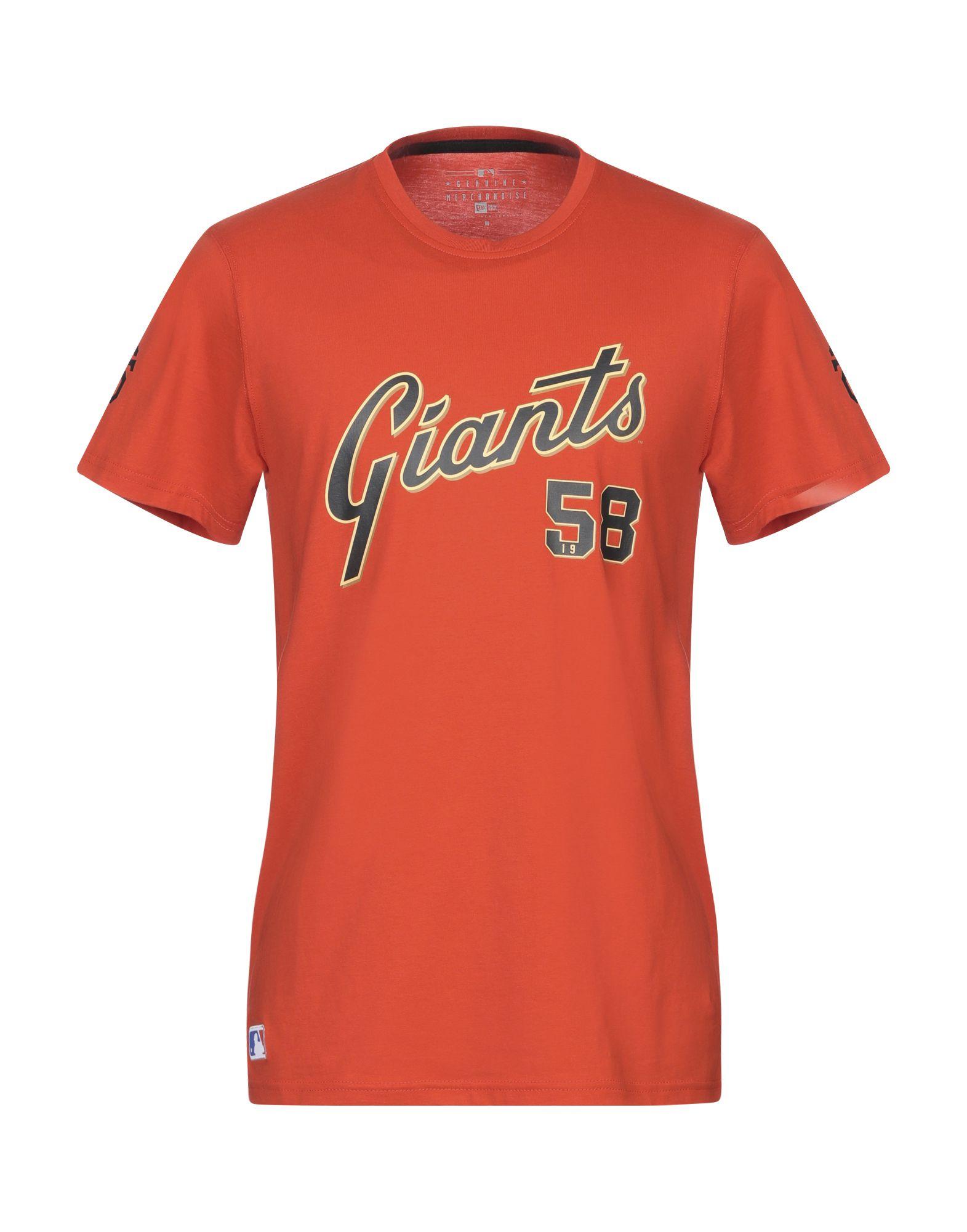 《期間限定 セール開催中》NEW ERA メンズ T シャツ オレンジ M コットン 100%