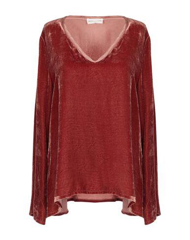 Фото - Женскую блузку SEVEN DAY WONDER ржаво-коричневого цвета