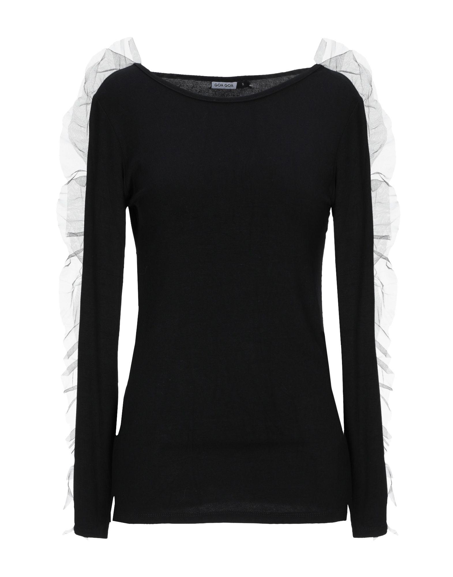 《期間限定セール中》GOA GOA レディース T シャツ ブラック S レーヨン 95% / ポリウレタン 5%