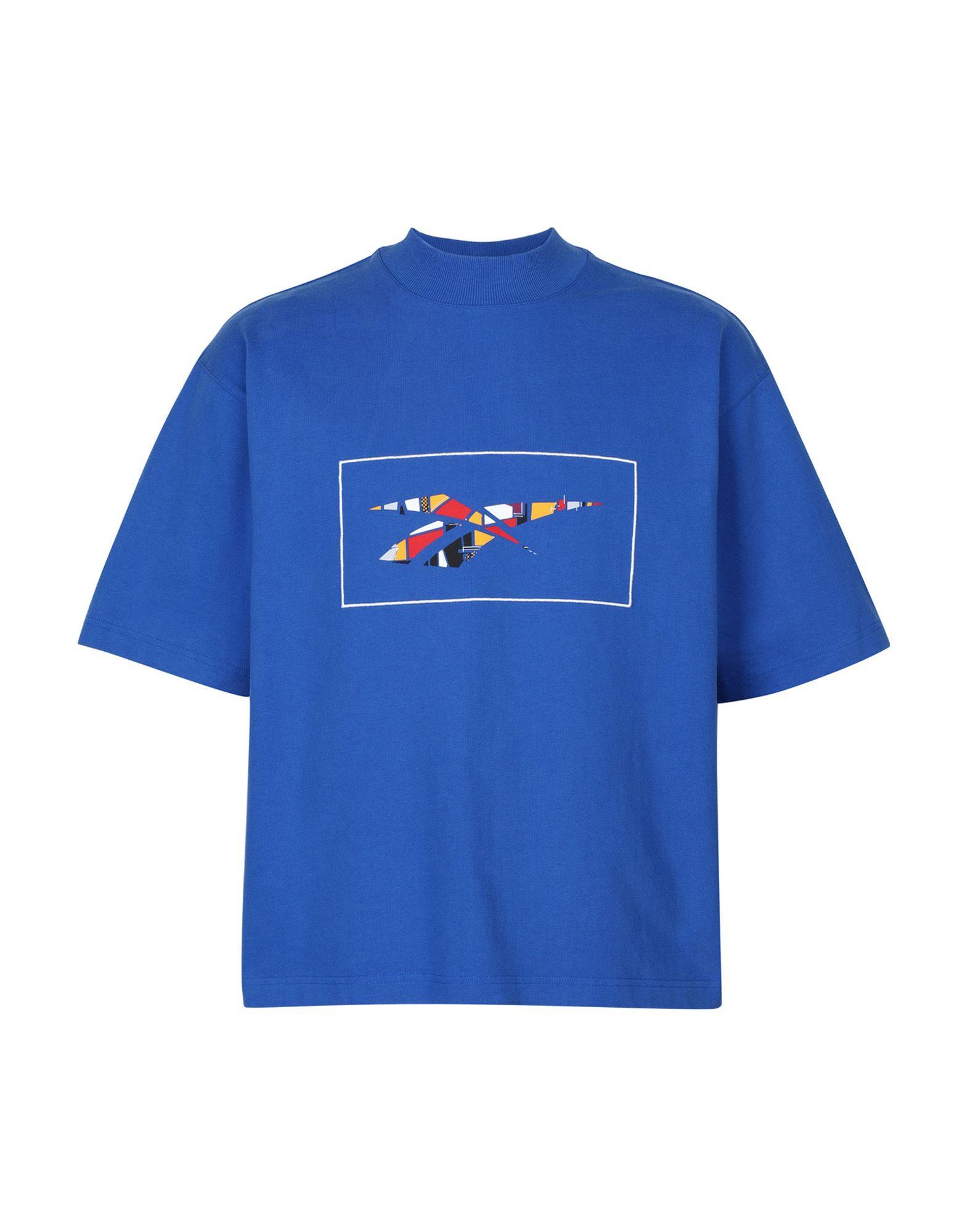《送料無料》REEBOK x PYER MOSS メンズ T シャツ ブルー S コットン 100% RCxPM SS TEE