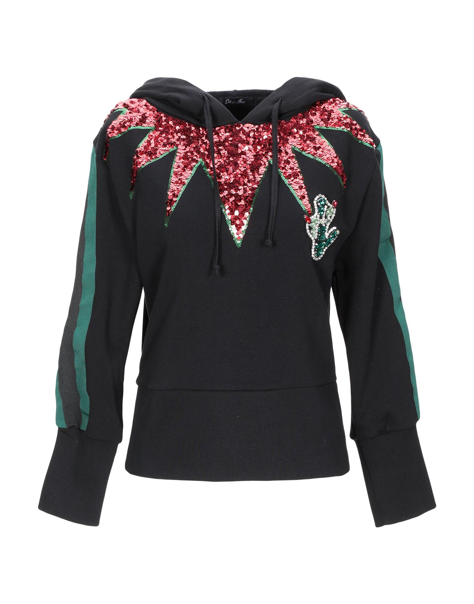 《期間限定 セール開催中》ODI ET AMO レディース スウェットシャツ ブラック XS コットン 100%
