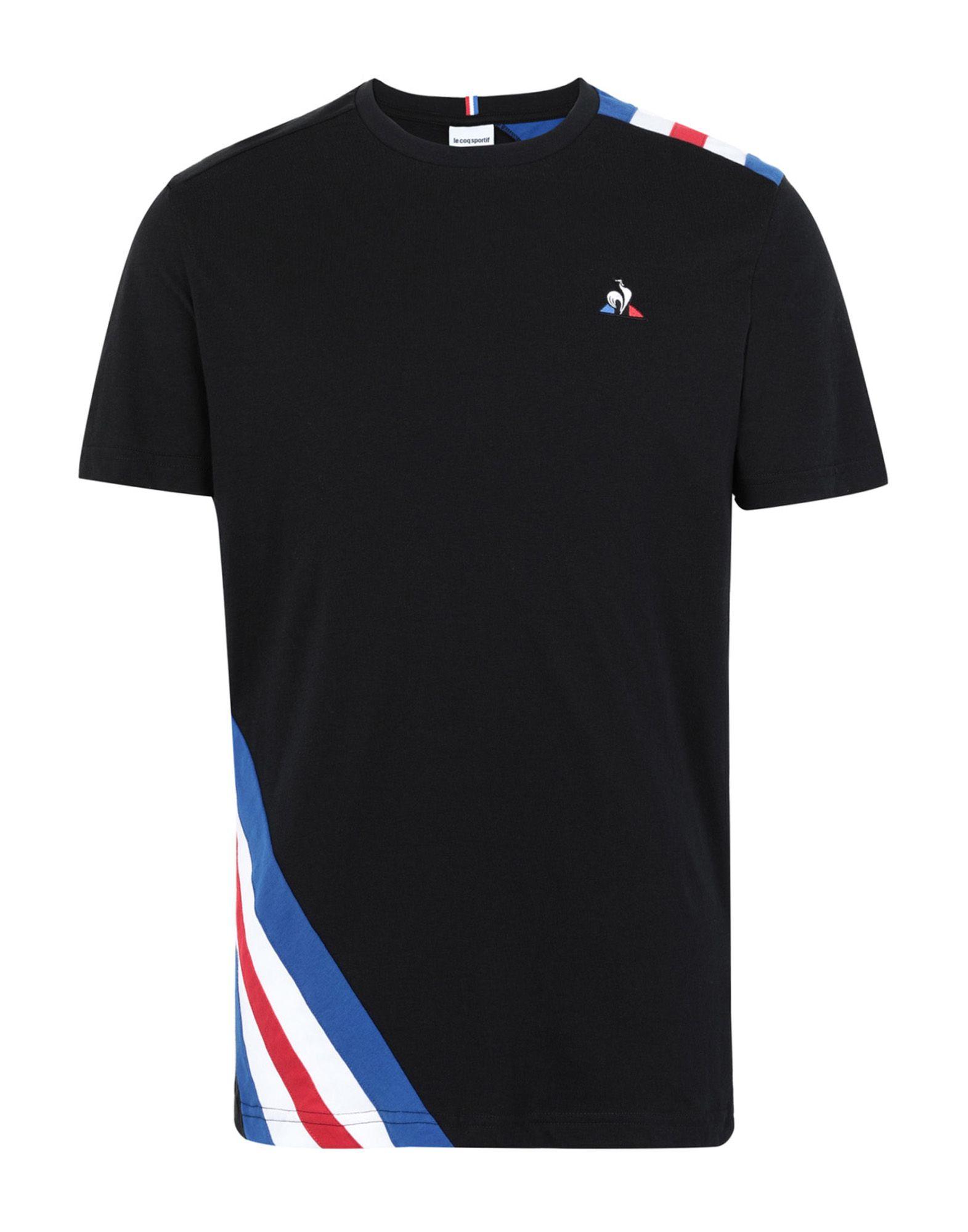 《セール開催中》LE COQ SPORTIF メンズ T シャツ ブラック S コットン 100% TRI Tee SS N°10