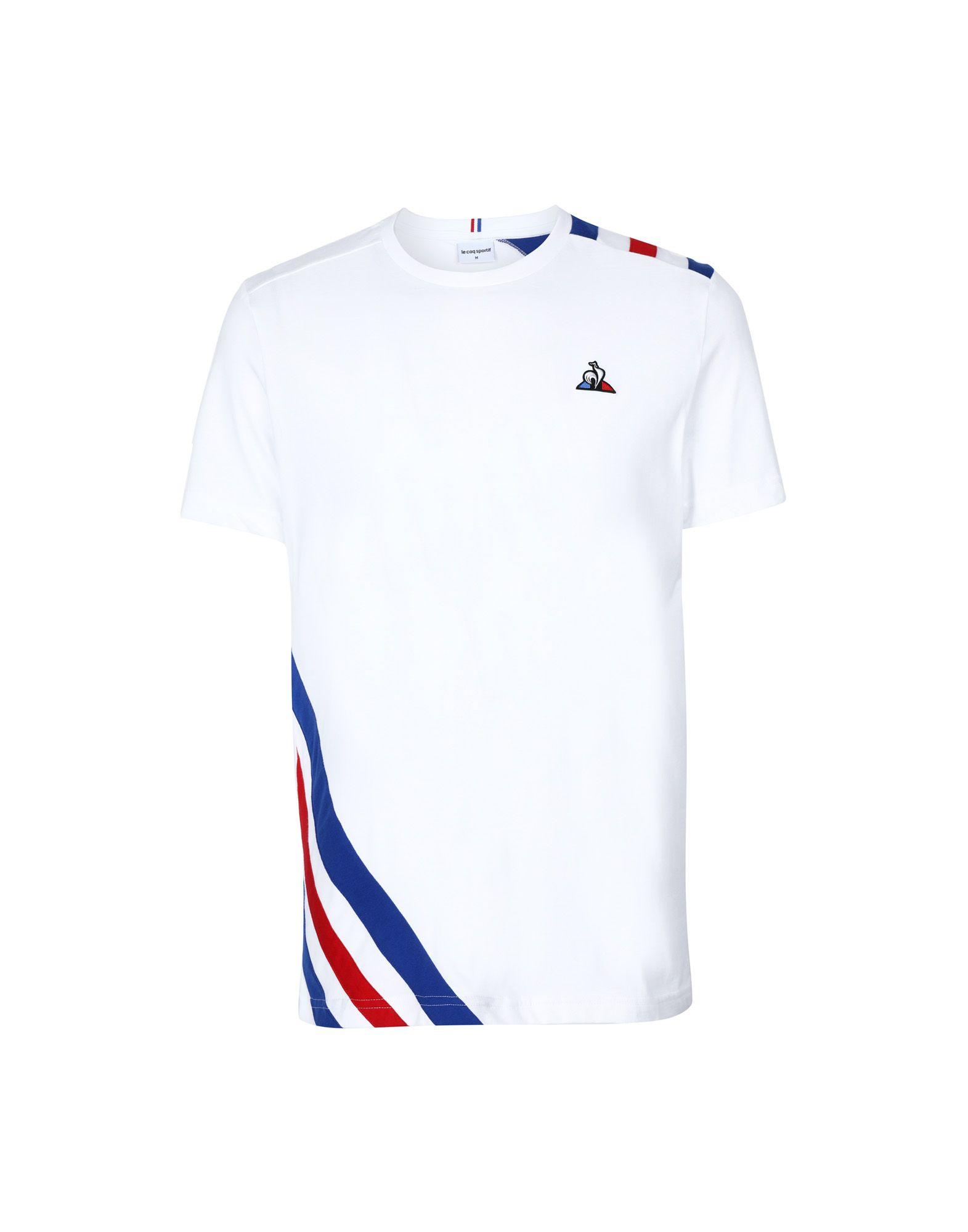 《セール開催中》LE COQ SPORTIF メンズ T シャツ ホワイト S コットン 100% TRI Tee SS N°10