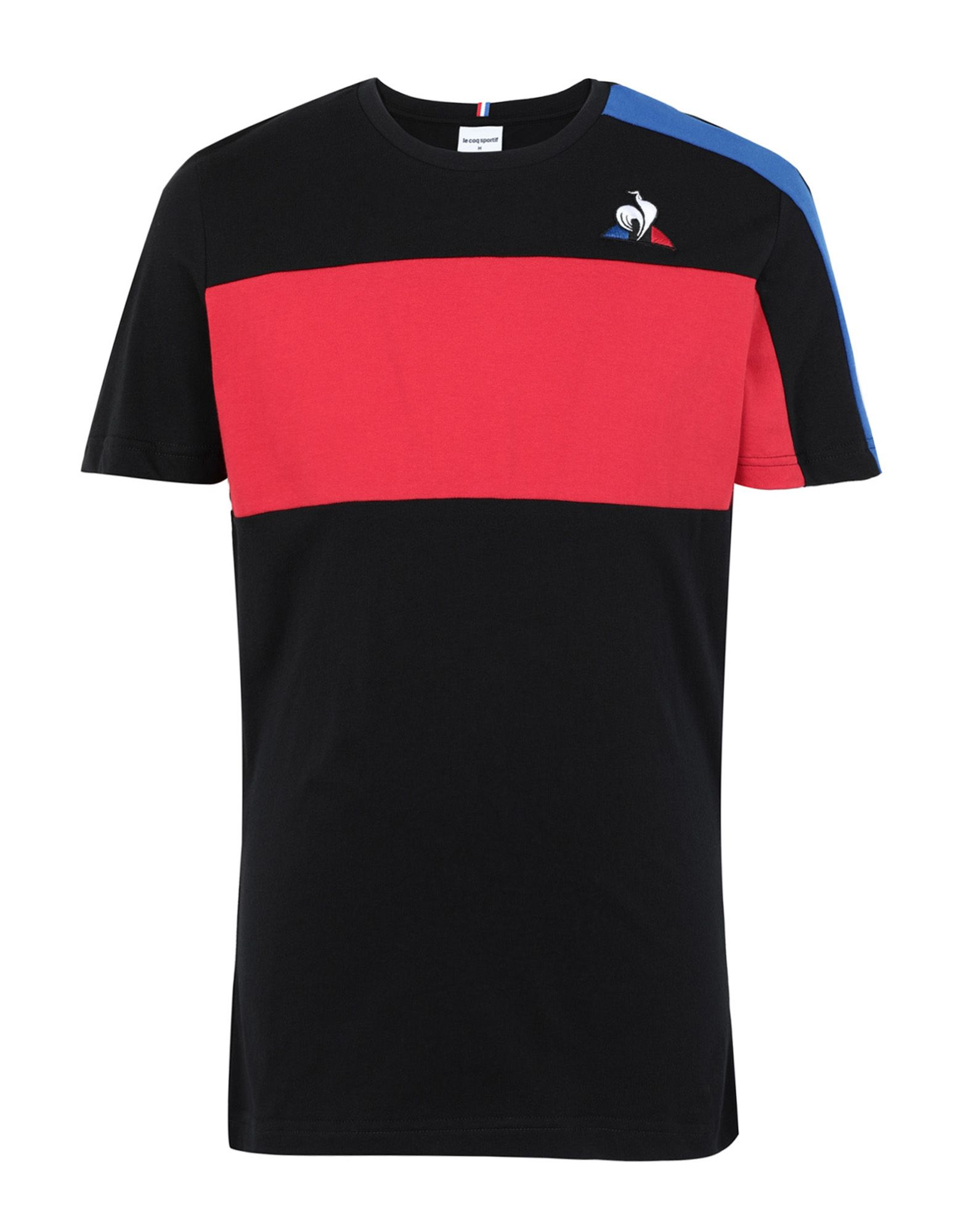 《セール開催中》LE COQ SPORTIF メンズ T シャツ ブラック S コットン 100% TRI Tee SS N°6