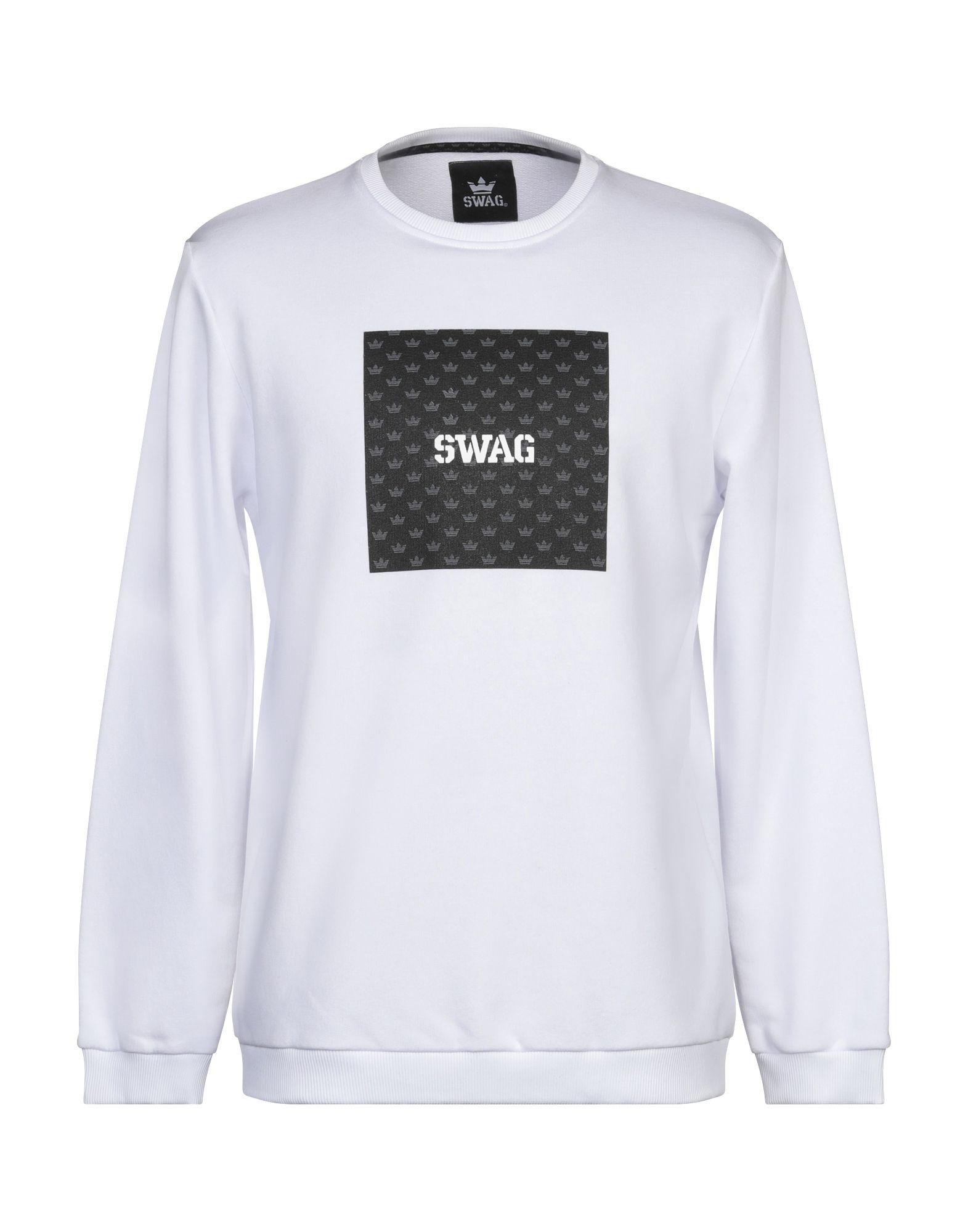 《セール開催中》SWAG メンズ スウェットシャツ ホワイト L コットン 65% / ポリエステル 35%