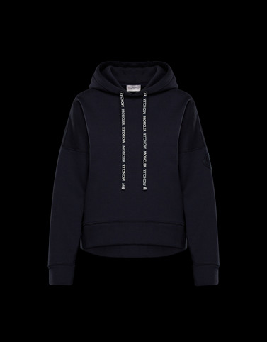 SWEATSHIRT Black Category HOODED SWEATSHIRTS Woman