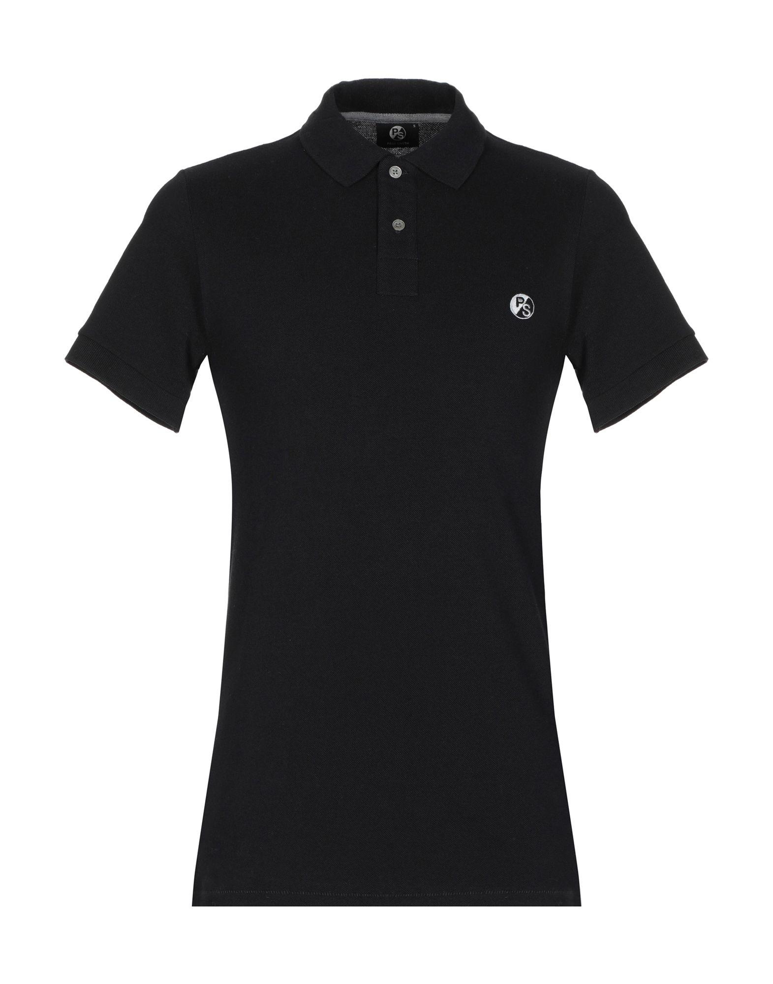 《セール開催中》PS PAUL SMITH メンズ ポロシャツ ブラック S コットン 100%