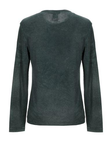Фото 2 - Женскую футболку ERMANNO DI ERMANNO SCERVINO темно-зеленого цвета