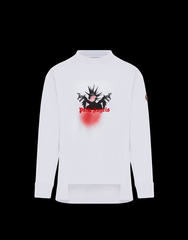 T-SHIRT White 8 Moncler Palm Angels