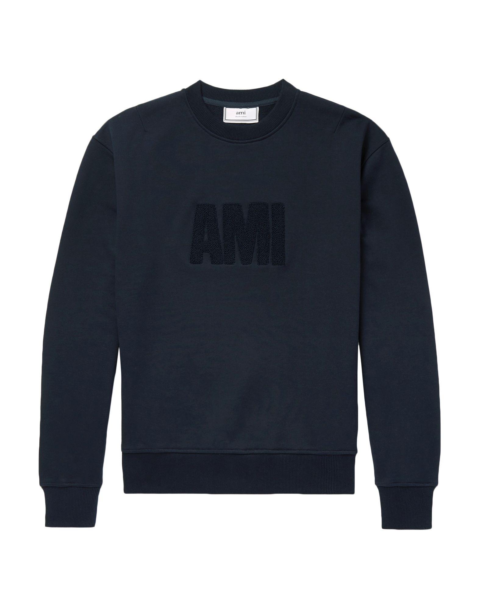 《期間限定セール開催中!》AMI ALEXANDRE MATTIUSSI メンズ スウェットシャツ ダークブルー XS コットン 100%