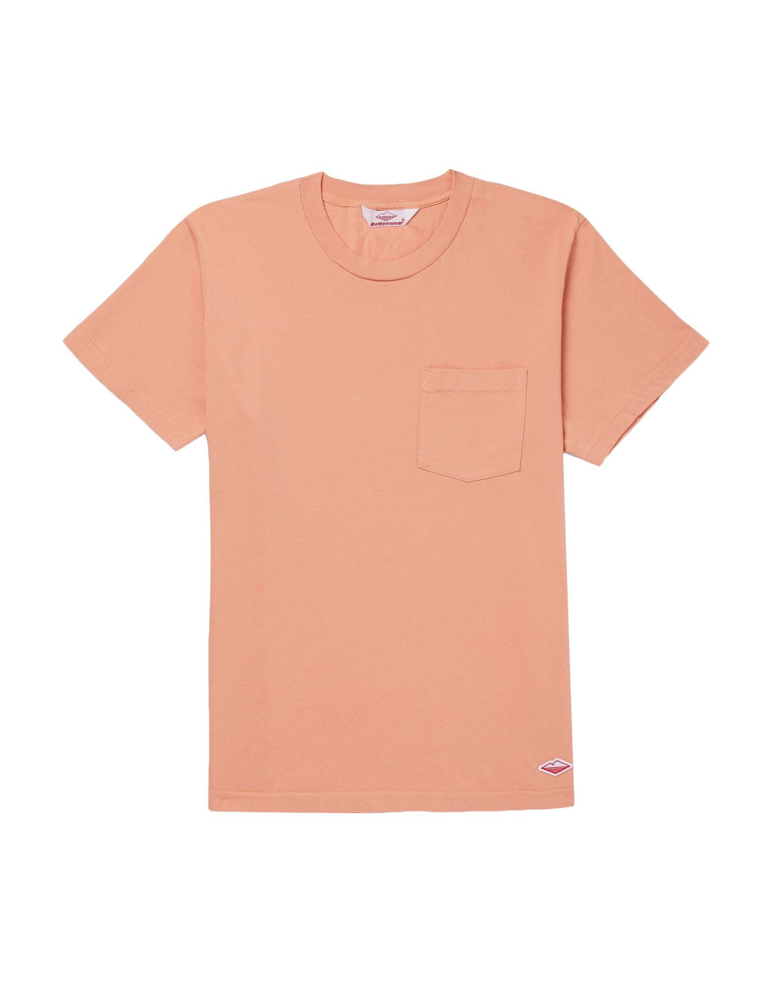 《送料無料》BATTENWEAR メンズ T シャツ あんず色 S コットン 100%