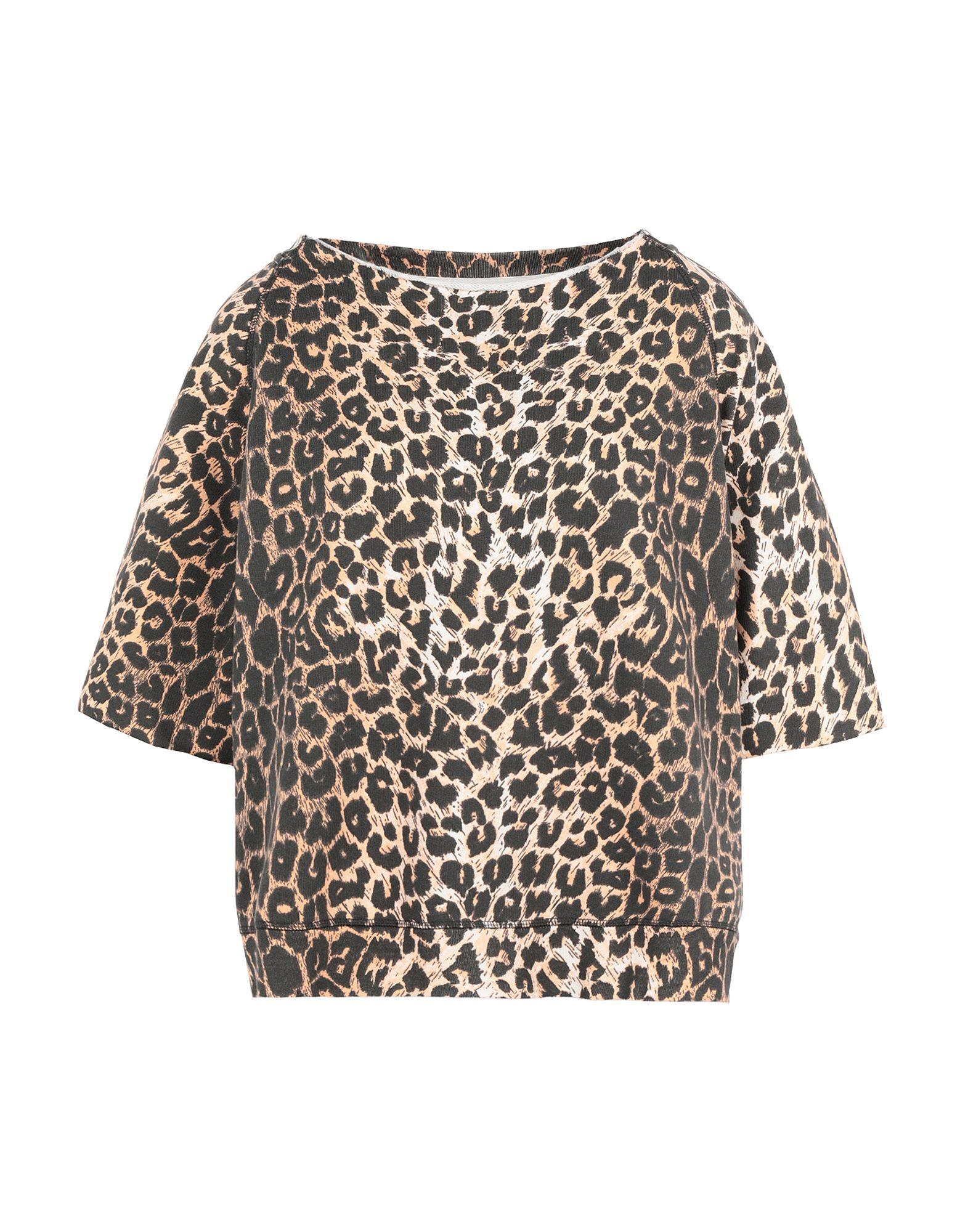 《期間限定 セール開催中》ALLSAINTS レディース スウェットシャツ サンド XS コットン 100% LEAP MILA SS SWEAT