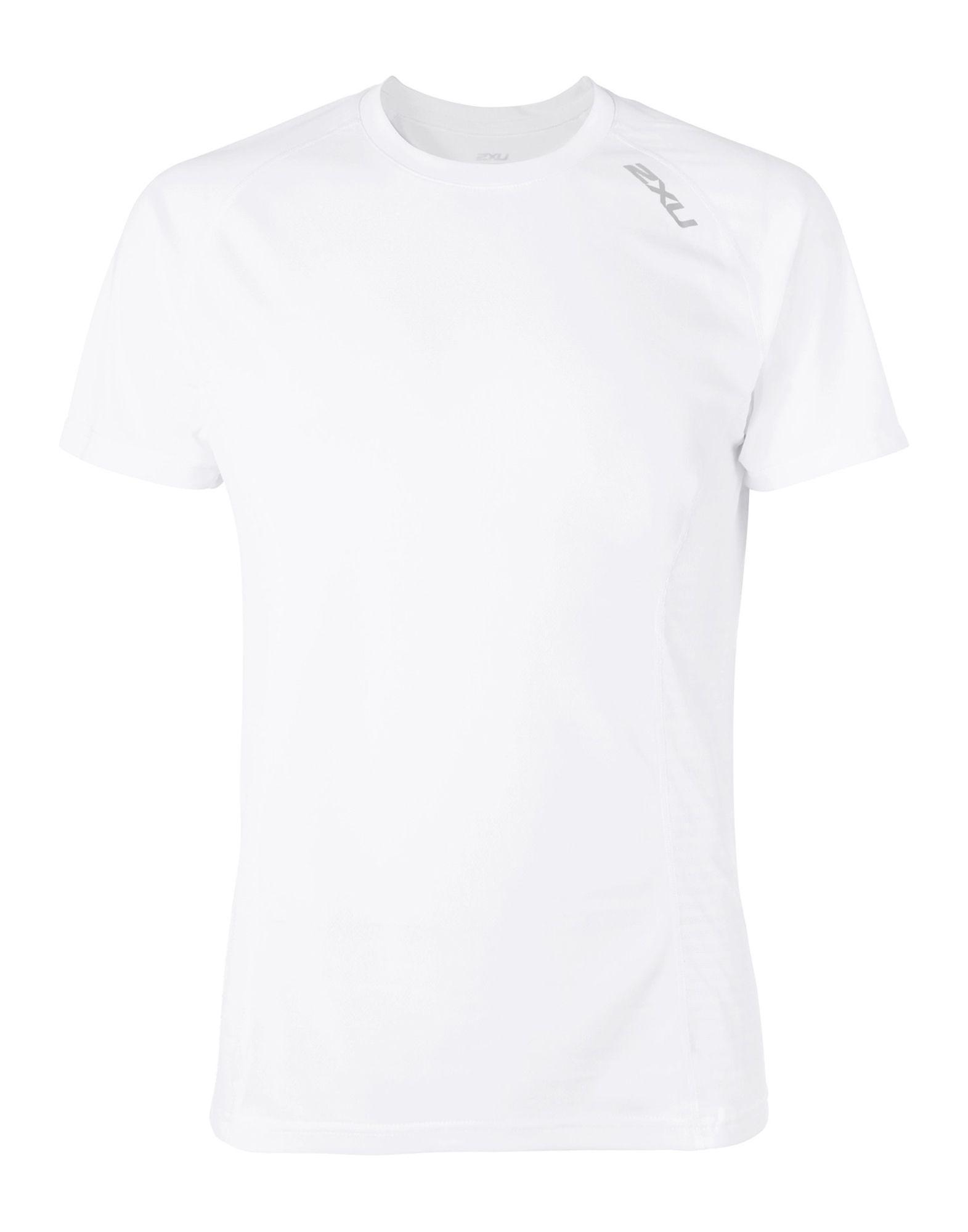《セール開催中》2XU メンズ T シャツ ホワイト XL ポリエステル 100%