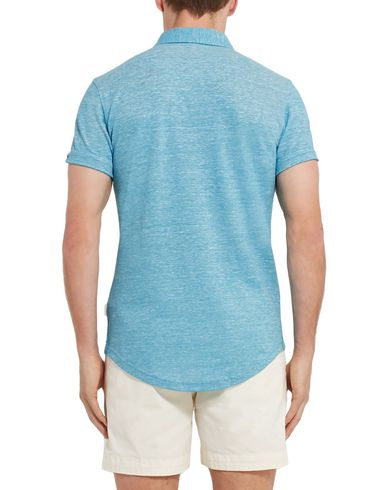 Фото 2 - Мужское поло  бирюзового цвета