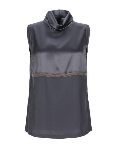Купить Топ без рукавов свинцово-серого цвета