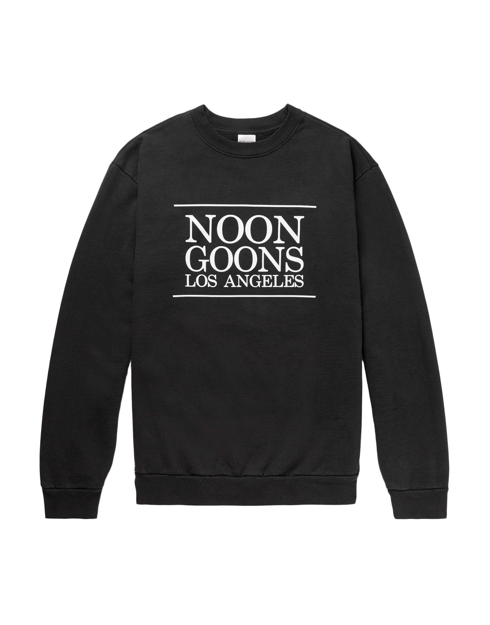 《セール開催中》NOON GOONS メンズ スウェットシャツ ブラック XS コットン 100%