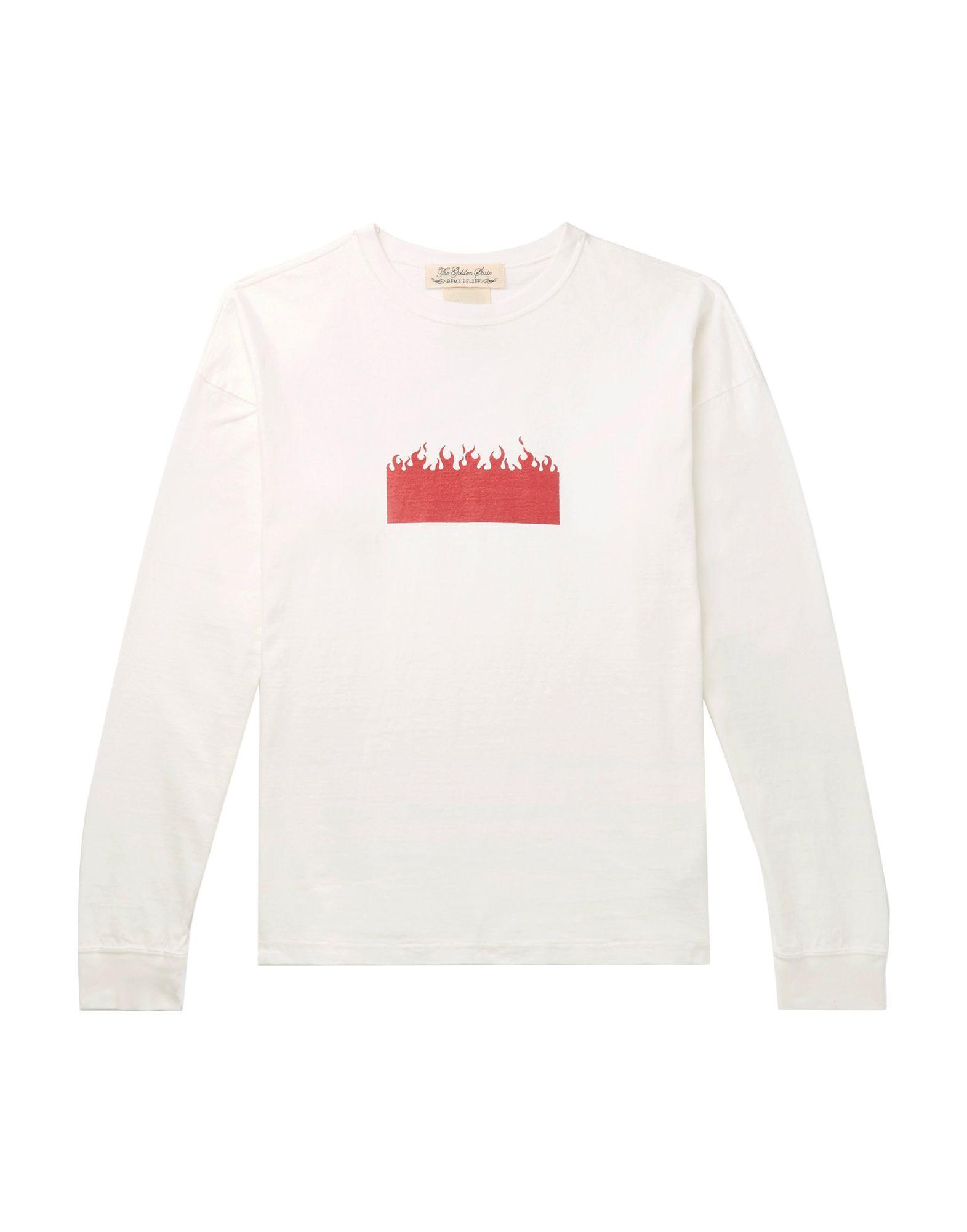 《期間限定 セール開催中》REMI RELIEF メンズ T シャツ ホワイト M コットン 100%