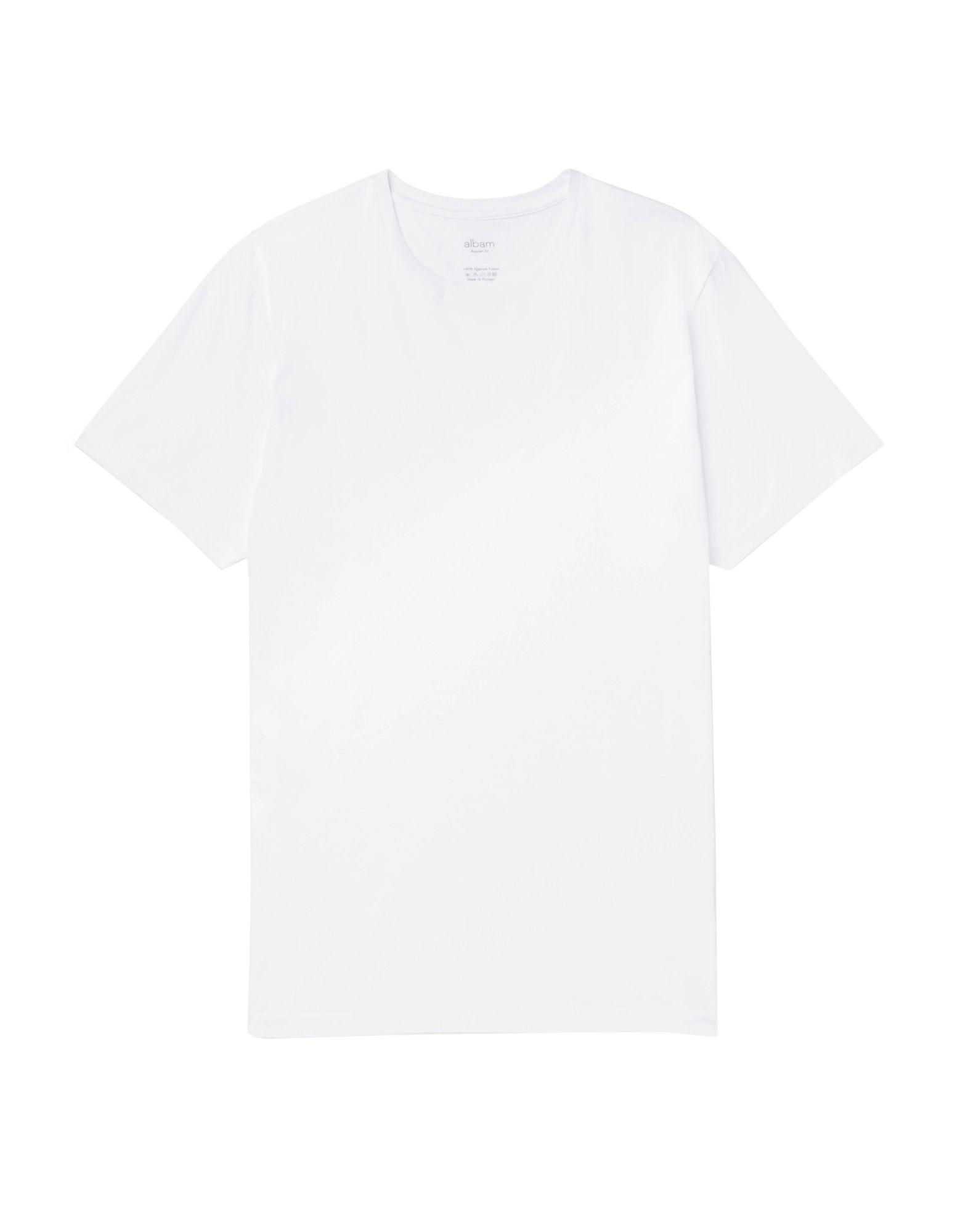 《送料無料》ALBAM メンズ T シャツ ホワイト 3 コットン