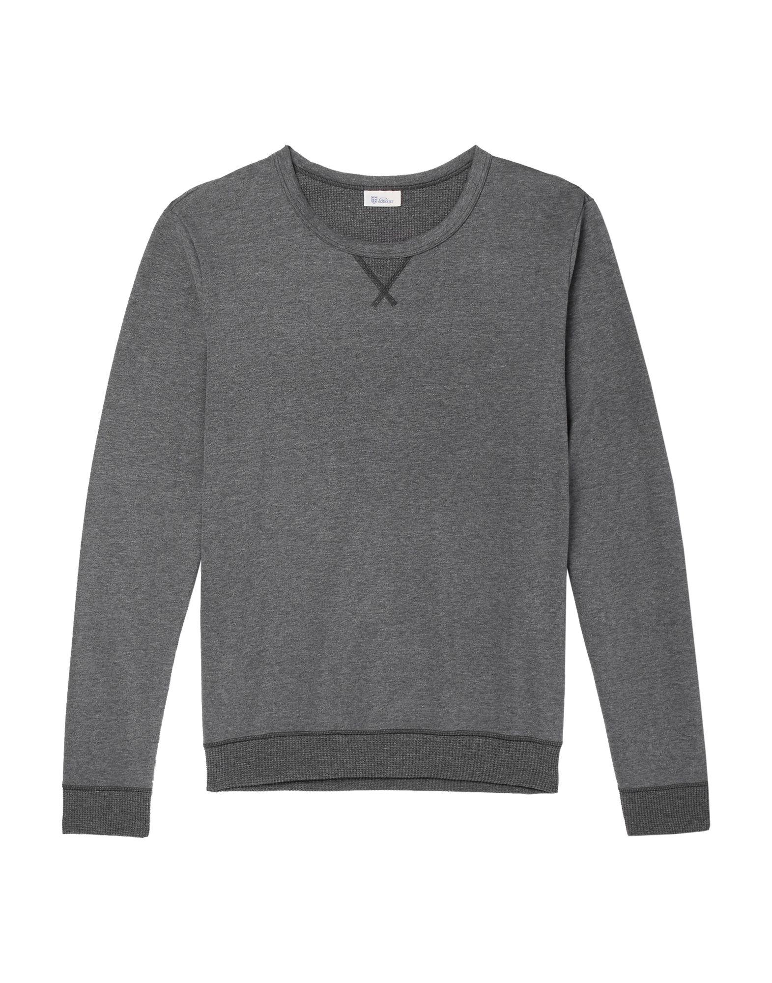 《セール開催中》SCHIESSER メンズ スウェットシャツ 鉛色 XL コットン 100%