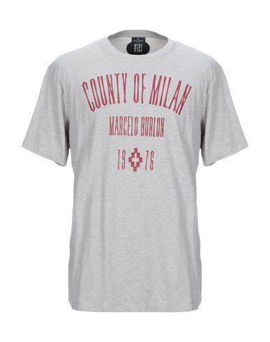 Купить Женскую футболку MARCELO BURLON серого цвета