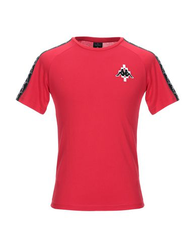 Фото - Женскую футболку MARCELO BURLON x KAPPA красного цвета