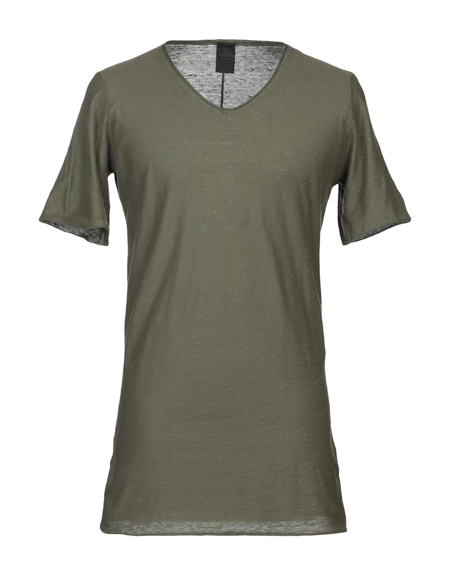 《期間限定 セール開催中》10SEI0OTTO メンズ T シャツ ミリタリーグリーン L コットン 100%