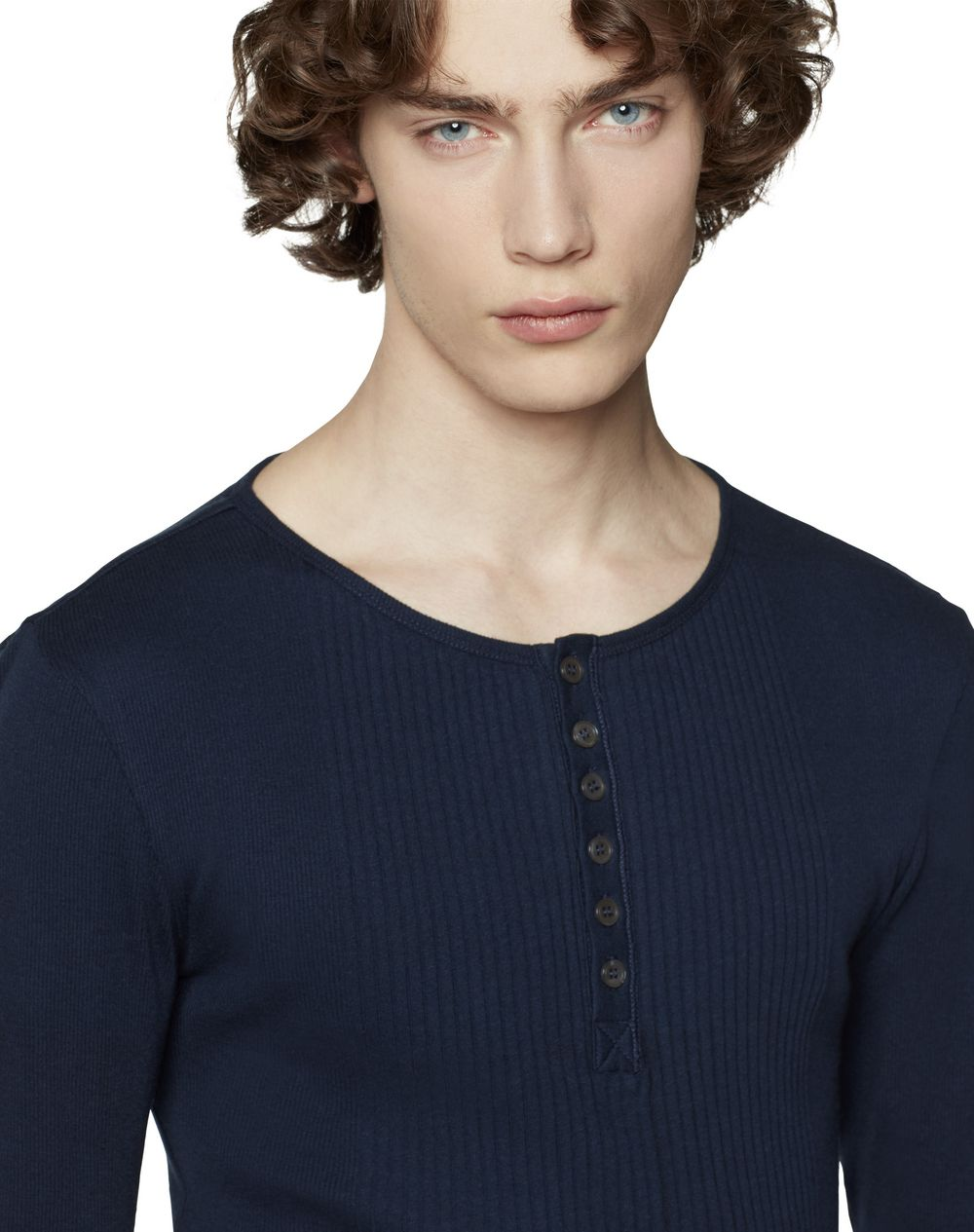 LONG-SLEEVED CASHMERE AND COTTON T-SHIRT - Lanvin