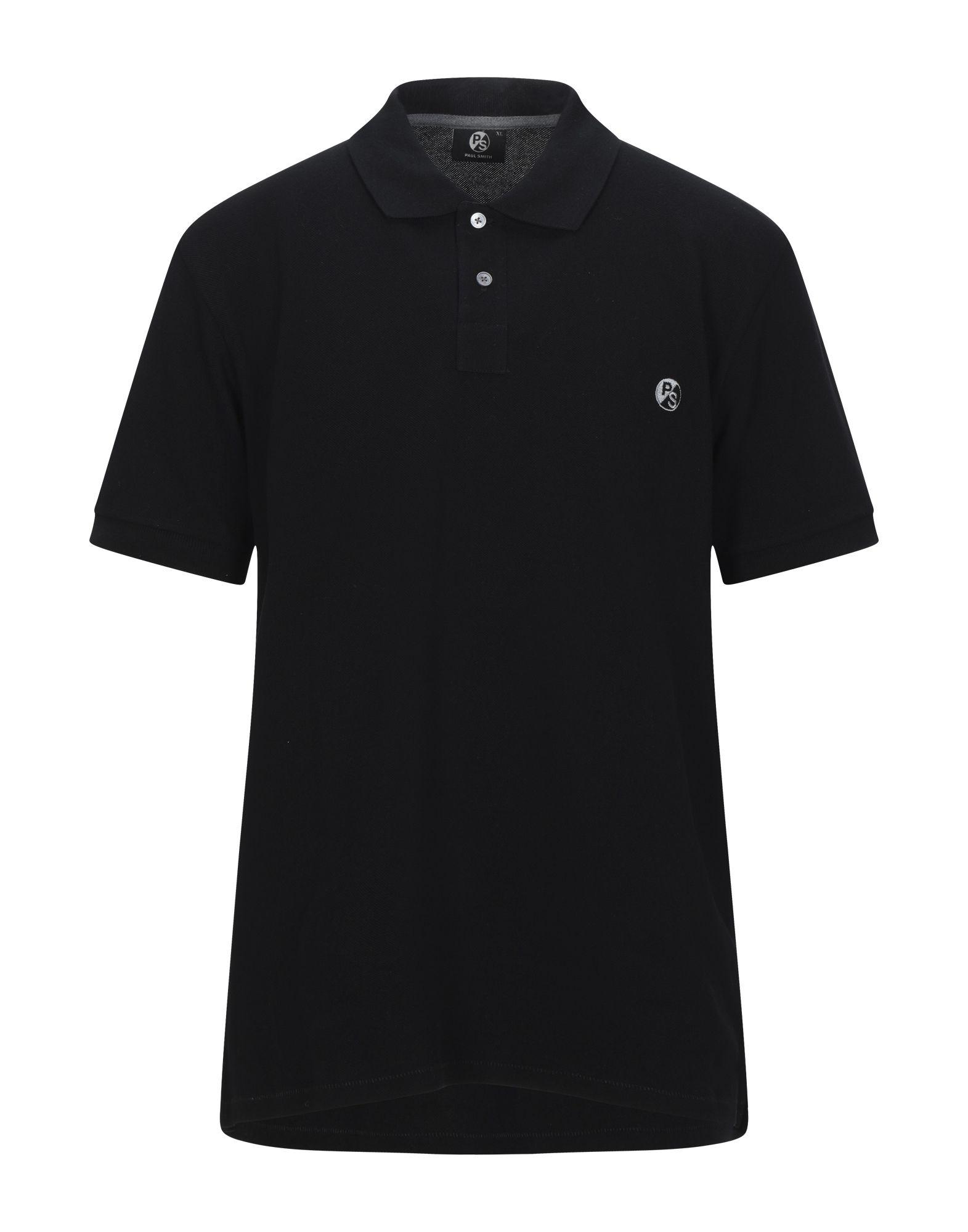《セール開催中》PS PAUL SMITH メンズ ポロシャツ ブラック XL コットン 100%