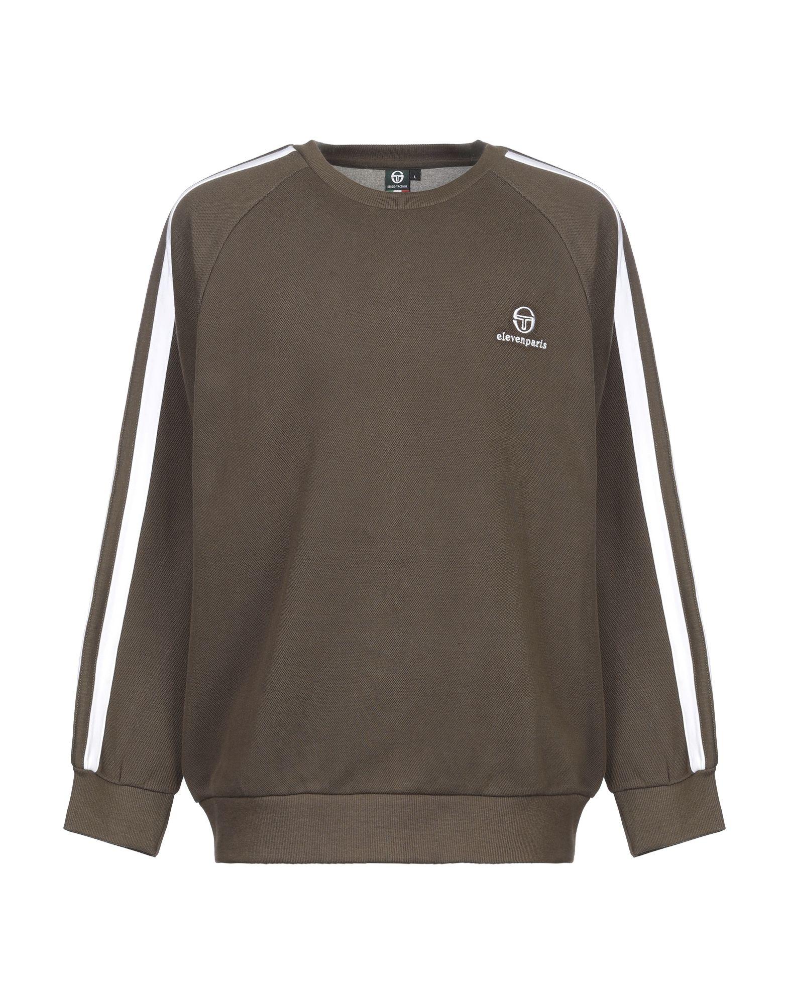 《セール開催中》SERGIO TACCHINI メンズ スウェットシャツ ミリタリーグリーン S コットン 80% / ポリエステル 20%