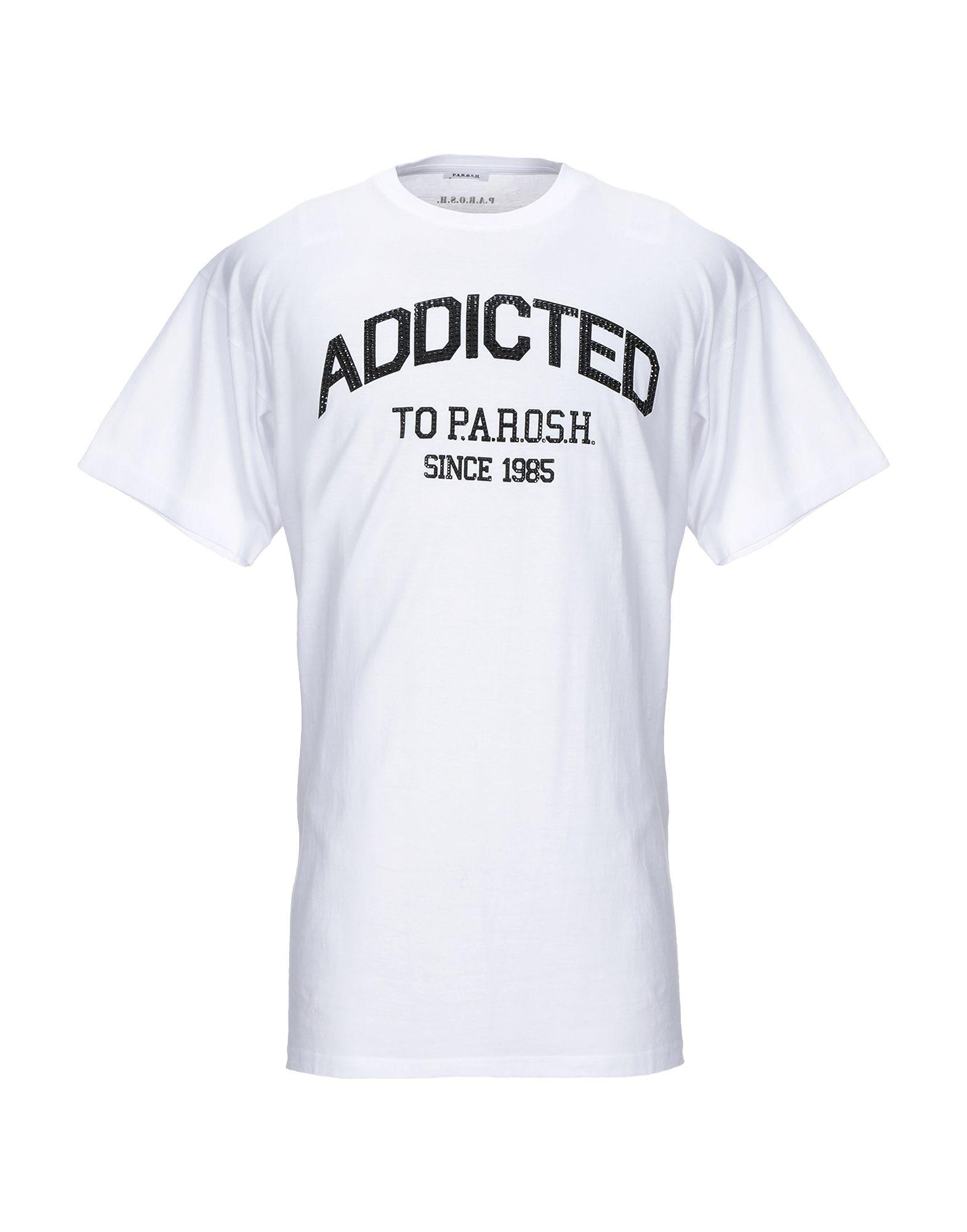 《期間限定セール開催中!》P.A.R.O.S.H. メンズ T シャツ ホワイト L コットン 100%