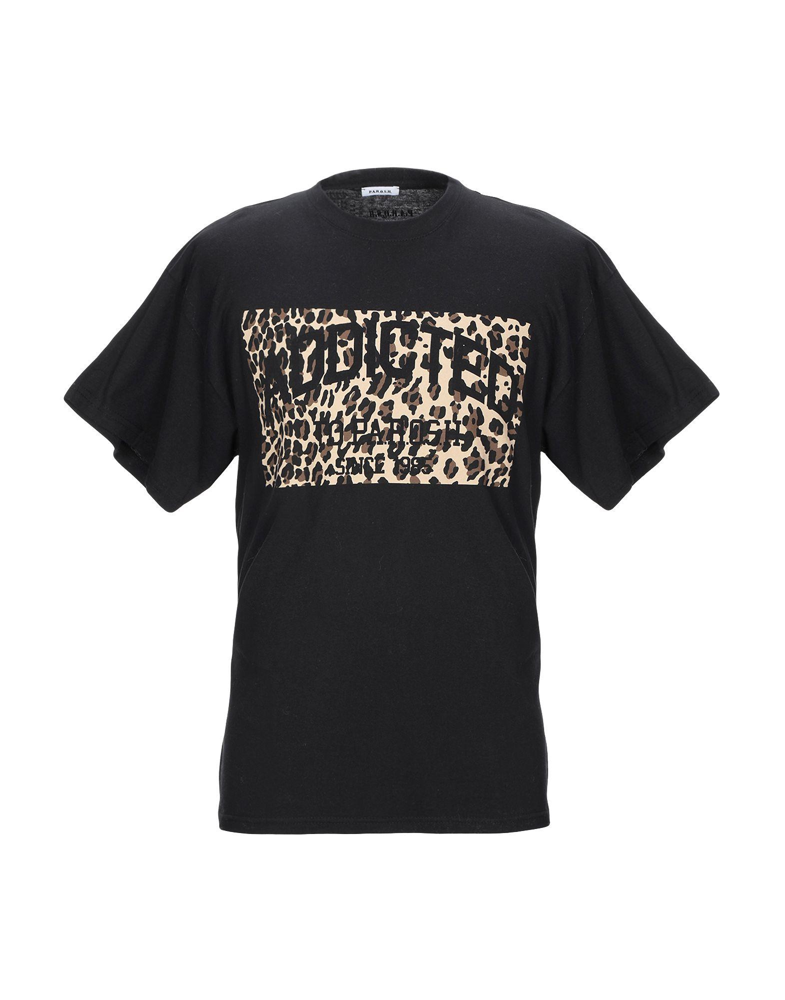 《期間限定セール開催中!》P.A.R.O.S.H. メンズ T シャツ ブラック L コットン 100%