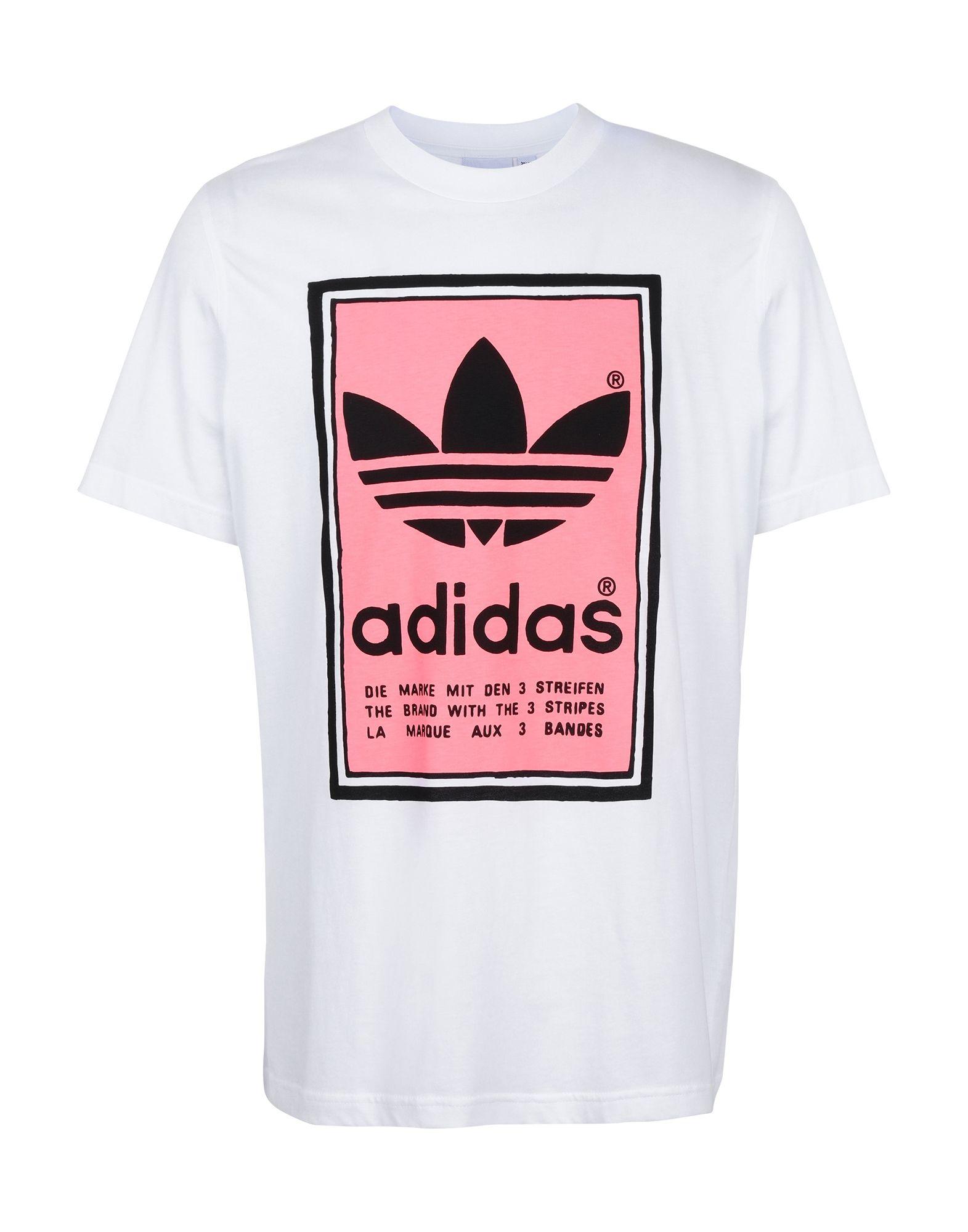《セール開催中》ADIDAS ORIGINALS メンズ T シャツ ホワイト L コットン 100% FILLED LABEL