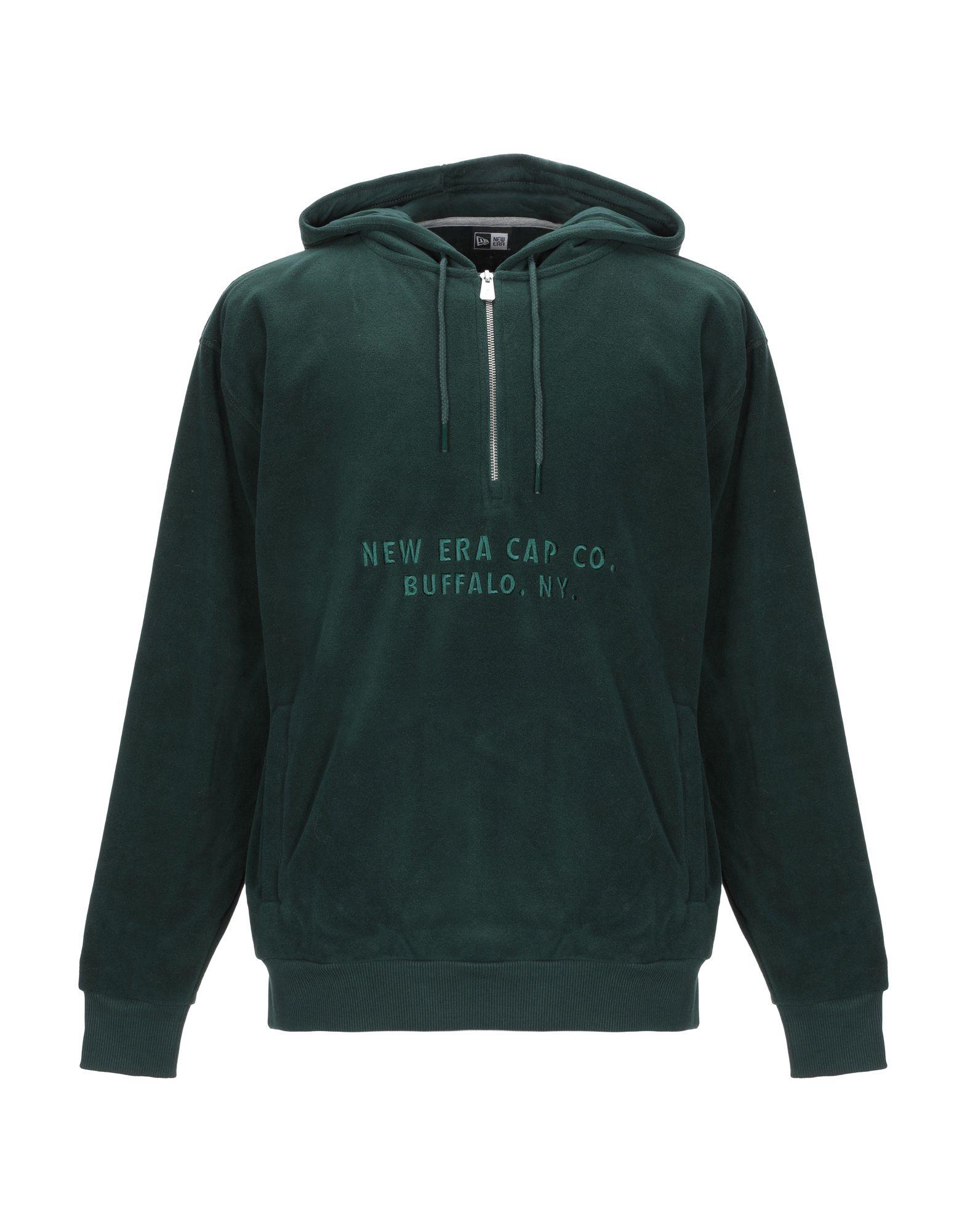 《期間限定 セール開催中》NEW ERA メンズ スウェットシャツ ダークグリーン XS ポリエステル 100%