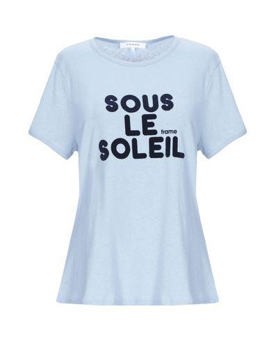 Фото - Женскую футболку FRAME небесно-голубого цвета