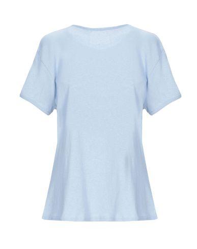 Фото 2 - Женскую футболку FRAME небесно-голубого цвета