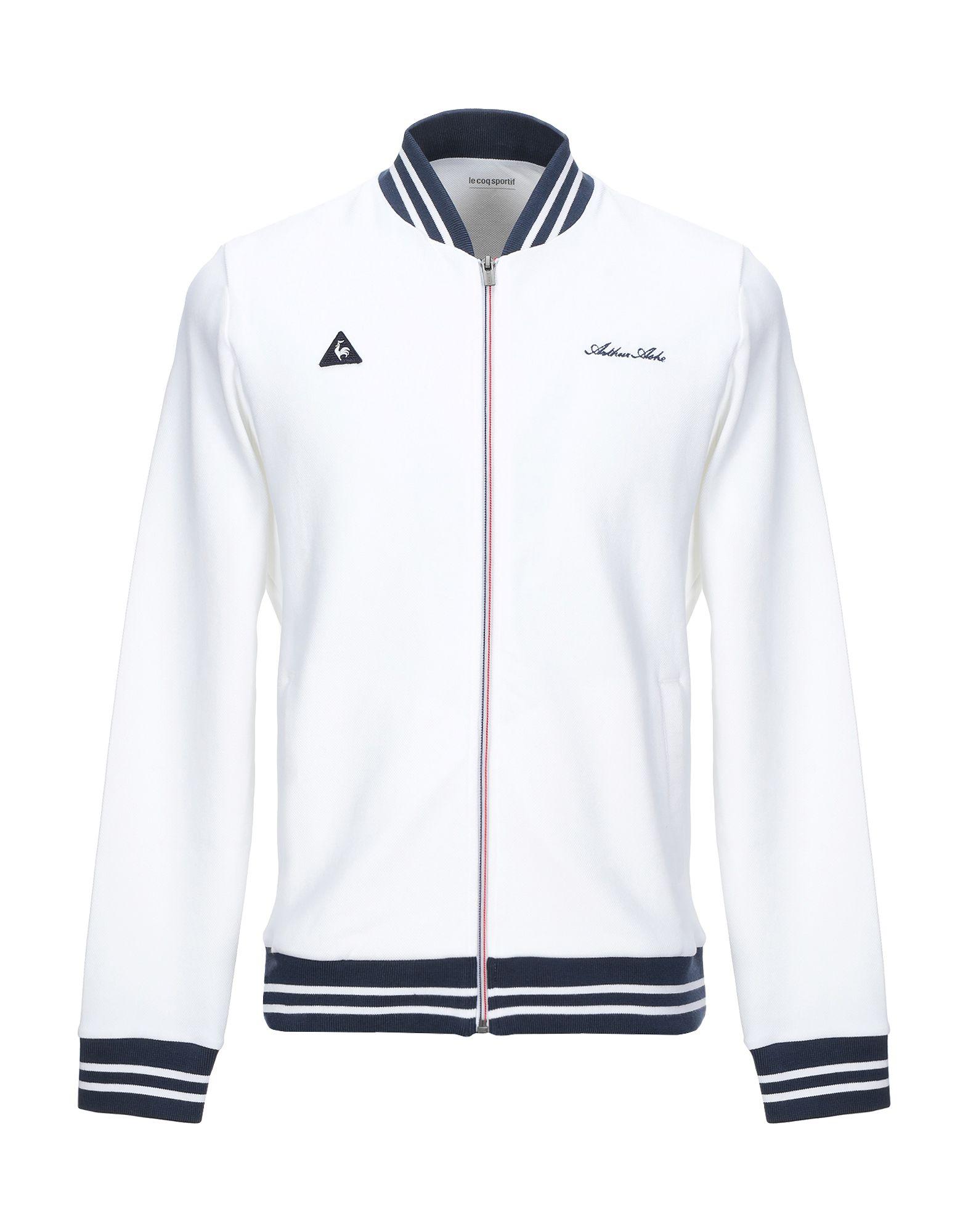 《期間限定セール開催中!》LE COQ SPORTIF メンズ スウェットシャツ ホワイト S コットン 95% / ナイロン 5%