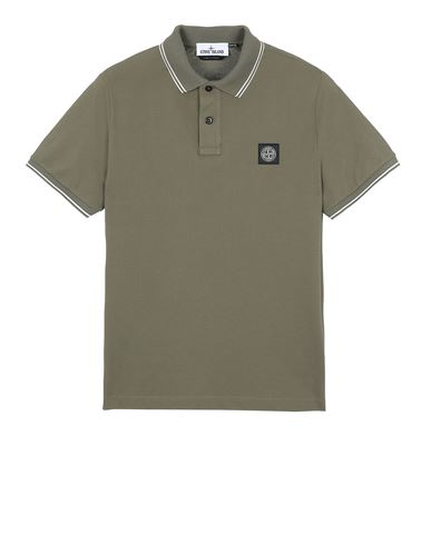 STONE ISLAND 22S18 Polo shirt Man Olive Green EUR 125