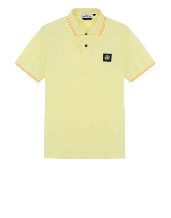 STONE ISLAND 22S18 Polo shirt Man Lemon