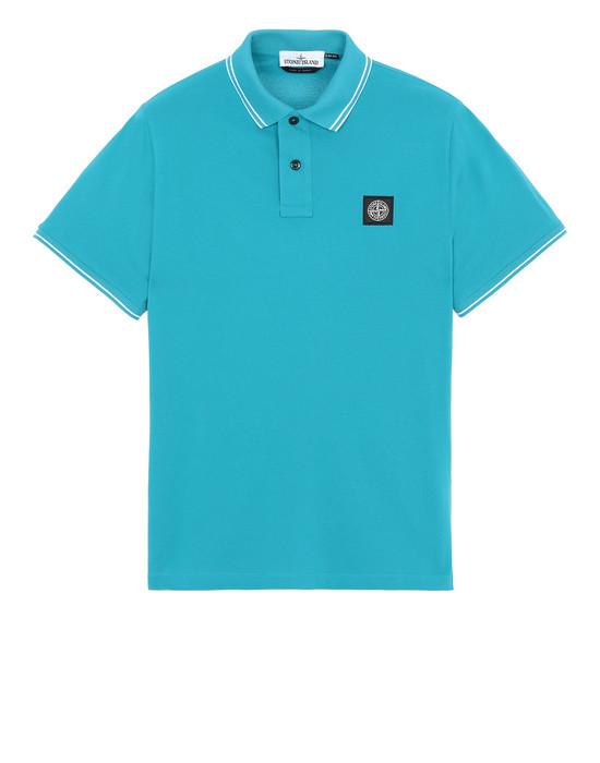 STONE ISLAND 22S18 Polo shirt Man Turquoise