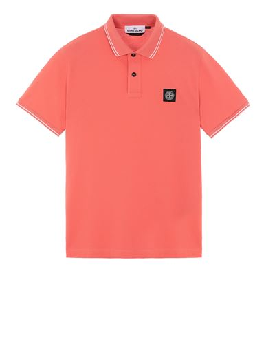 STONE ISLAND 22S18 Polo shirt Man Lobster Red USD 105