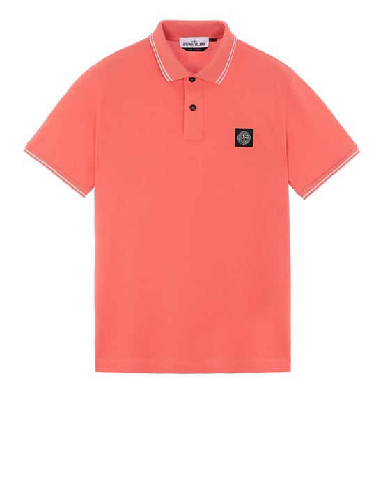 STONE ISLAND 22S18 Polo shirt Man Lobster Red