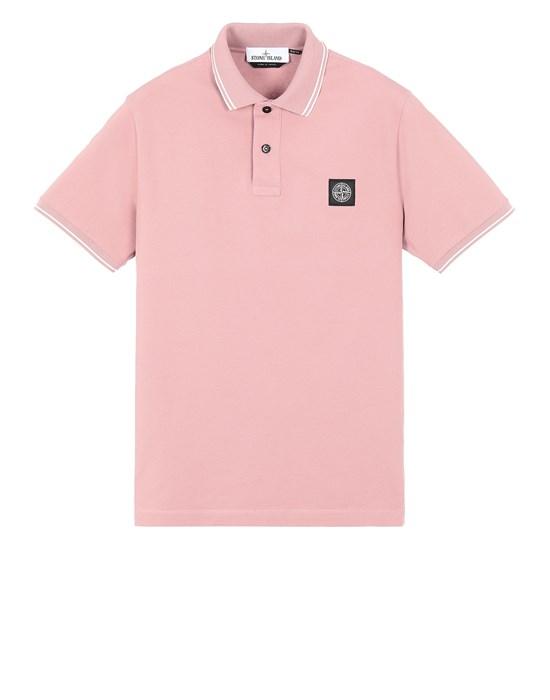 STONE ISLAND 22S18 Polo shirt Man Pink Quartz