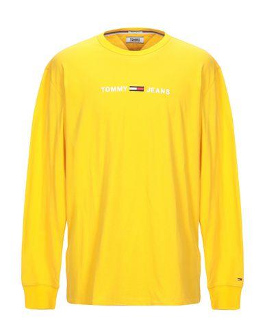 Купить Женскую футболку TOMMY JEANS желтого цвета