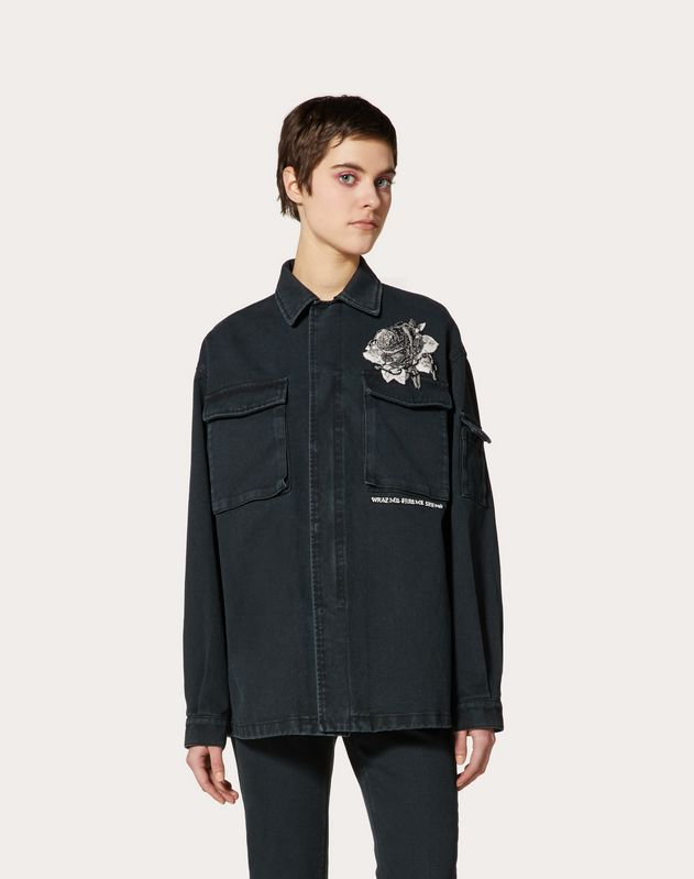 Denim Jacket with Embroidered Undercover Patch