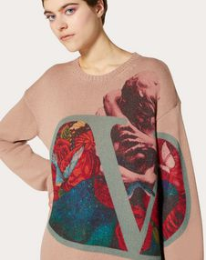 Undercover Print Wool and Cashmere Jumper