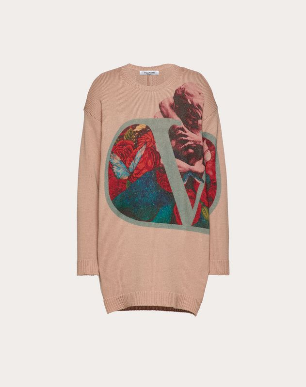 Undercover Print Wool and Cashmere Sweater