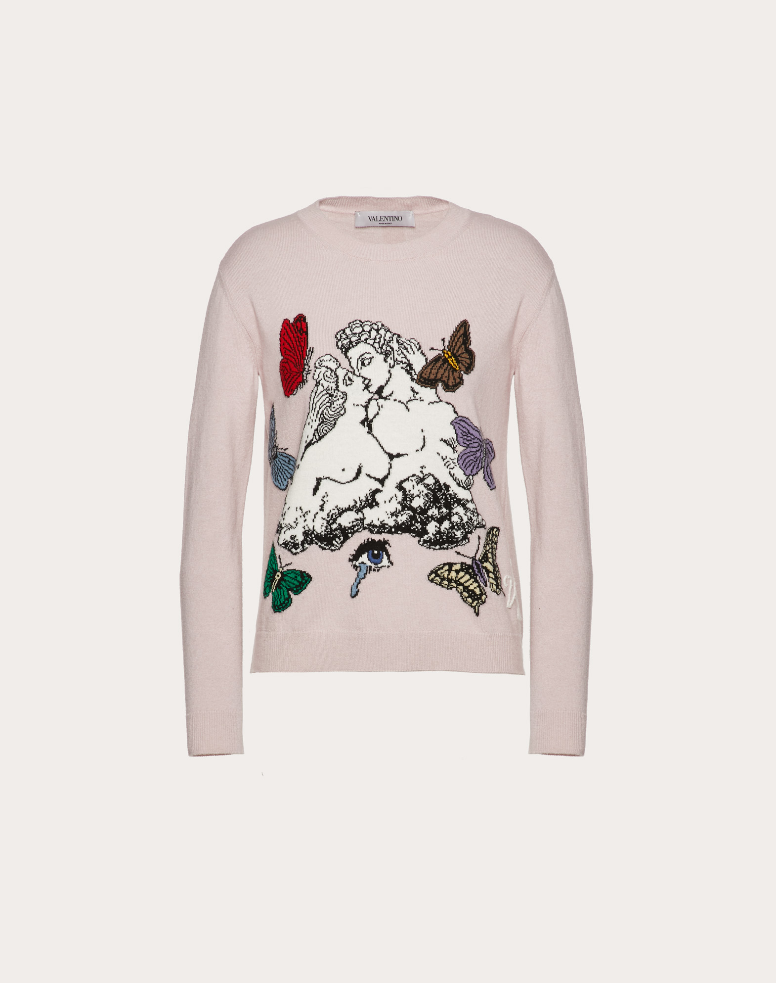 Undercover Inlay Wool and Cashmere Sweater